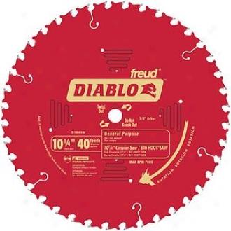 Freud 10-1/4  40t Diablo Vague Pudpose Beam Saw Blade D1040w