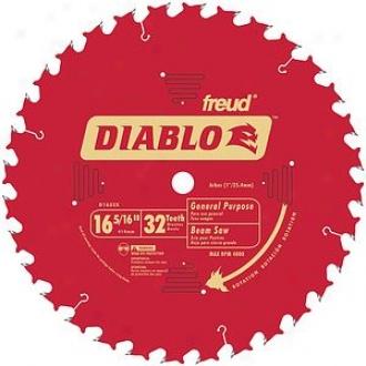 Freud 16-5/6  32t Diablo General Purp0se Beaj Saw Blade D1632x