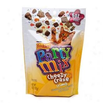 Friskies Party Mix Cheesy Craze Crunch Cheddar Switzer Monterey Jack Flavor6 Oz