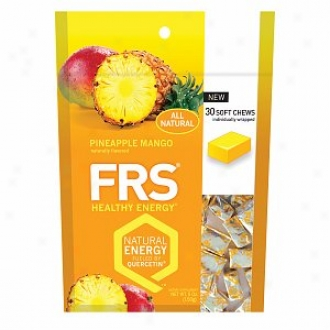 Frs Healthy Energy, All Natural Chews, Pineapple Mango
