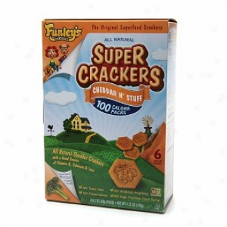Funley's Delicious Super Crackers Cheddar N` Stuff, Snack Packs, Superfood Brocclli