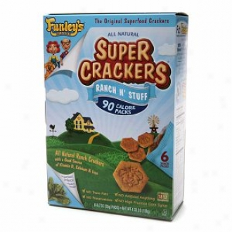 Funley's Deliciious Super Crackers Ranch N` Stuff, Snack Packs, Superfood Spinach