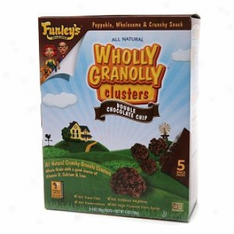 Funley's Delicious Wholly Granolly Clusters, Snack Packs, Double Choccolate Chip