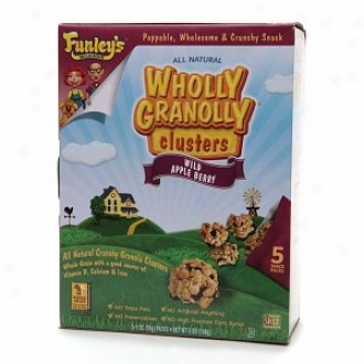 Funley's Luscious Wholly Granolly Clusters, Snack Packs, Wild Apple Berry