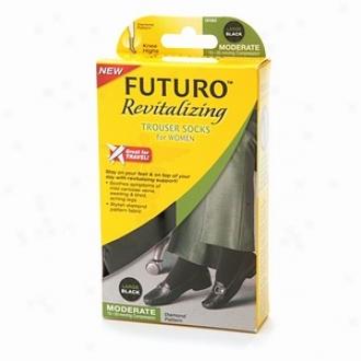 Futuro Revitalizing Trouaer Socks For Women, Moderate, Large, Black