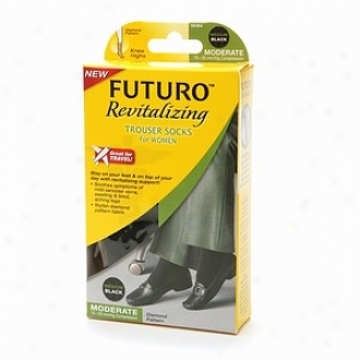 Futuro Revitalizing Trouser Socks For Women, Moderate, Mean average Black