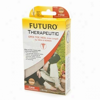 Futuro Therapeutic Support Open Toe/heel, Knee High, Firm Comprrssion, Beige, Xl