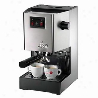 Gaggia Espresso Machine, Classic Brushed Unsullied Steel