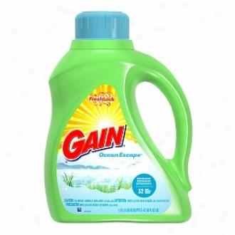 Gain Liquid Detergent With Fresh Lock, 32 Loads, Immense expanse Escape