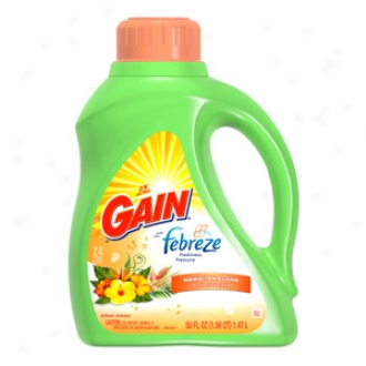 Gain With Febreze Freshness, Hawaiian Aloha Fluid Detergent, 24 Loads
