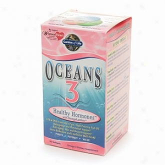 Garden Of Life Oceans 3 Healthy Hormones With Omegaxanthin Softgels