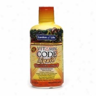 Garden Of Life Vitamin Code Fluid Multivitamin Formula, Orange-mango