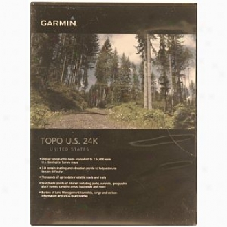 Garmin Detailed Us Top0graohidal Map For Washington & Oregon