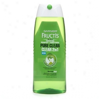 Garnier Fructis Hairacre Pure Clean 2 In1 Shampoo + Conditioner For Normal Hair