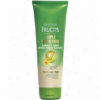 Garnier Fructis Haircare Triple Nutrition 3-minute Undo Dryness Reversal Treatment