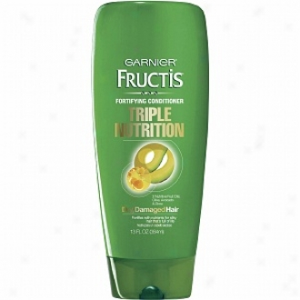 Garnier Fructis Haircare Triple Nutrition Fortifyiny Cream Conditioner, Dry To Over-dridd Or Damaged Hair