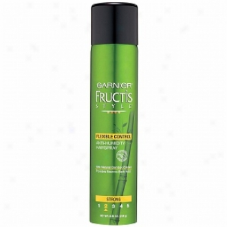 Garnier Fructis Style Anti-humidity Hairspray, Flexible Contrll With Natural Bamboo Extract