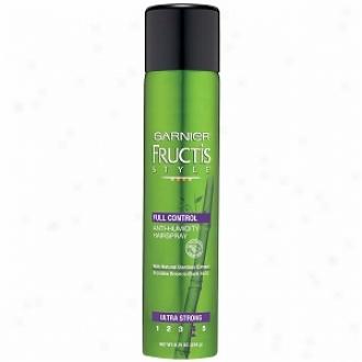 Garnier Fructis Style Full Control Anti-jumidity Hairspray, Ultra Syrong