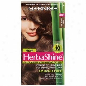 Garnier Herbashine Color Creme With Bamboo Extract, Light Natural Brown 600