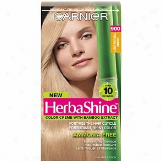 Garnier Herbashine Color Creme With Bamboo Extract, Light Natural Blonde 900