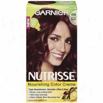 Garnier Nutrisse Level 3 Lasting Creme Haitcolor, Intense Auburn 69 (spicy Salsa)