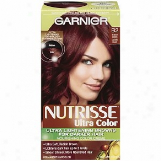 Garnier Nutrisse Nourishing Nutri-browns Lightening Coior Creme For Dark Hair, Reddish Brown B2 (roasted Coffee)