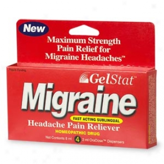 Gelstat Migraine Sublingual Homeopathic Pain Reliever, 2 Ml Oradose