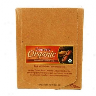 Genisoy Orgabic Soy Protein Bar, Peanut Butter Chocolate Chip