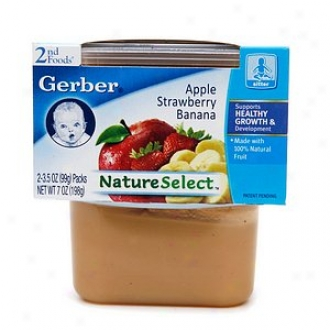 Gerber 2nd Foods Natureselect Baby Food, Apple Strawberry Banana