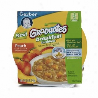 Gerber Graduates Breakfast Buddies Hot Cereal In the opinion of Real Fruit, Peach