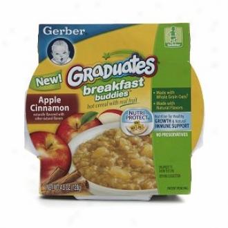 Gerber Graduates Breakfast Buddies Hot Cereal With True Fruit, Apple Cinnamon