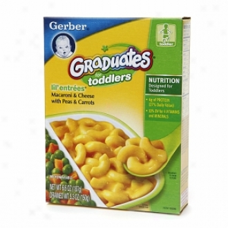Gerber Graduates For Toddlers Lil' Entrees, Macaroni & Cheese With Peas & Carrots