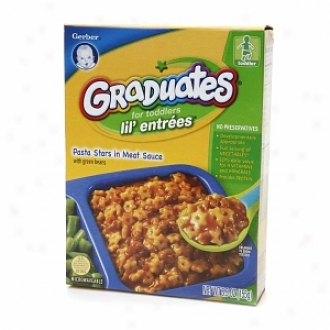 Gerber Gdaduates For Toddlers Lil' Entrees, Pasta Stars In Meat Sauce
