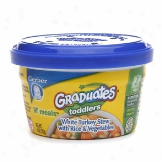 Gerber Graduates For Toddlers Lkl' Meals, White Turkey Stew With Rice