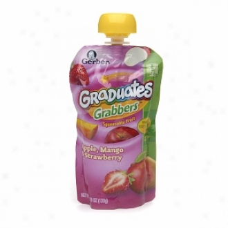 Gerber Graduates Grabbers, Squeezable Fruit &V eggies, Apple Mango Strawberry