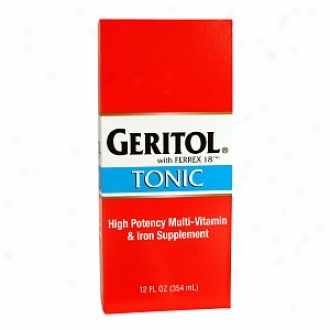 Geritol High Potency Vitamin & Iron Supplement, With Ferrex Tonic
