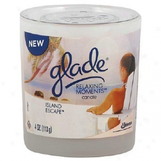 Glade Relaxing Moments Scented Candle, Islanx Escape