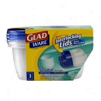 Gladware Containers And Lids, Deep Dish
