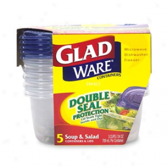 Gladwqrre Containers And Lids, Soup & Salad