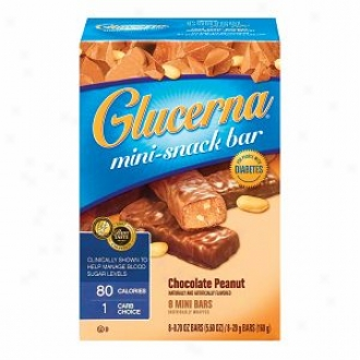 Glucerna Mini-snack Bar For  People With Diabetes, Chocolate Peanut