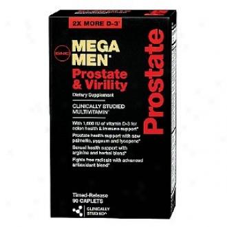Gnc Men's Mega Men Prostate & Virility Multivitamin, Timed Release Caplets