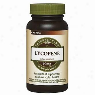 Gnc Essential Brand Lycopene, 10mg, Capsules