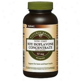 Gnc Natural Brand Non-gmo Soy Isoflavone Condense, 50mg, Capsules