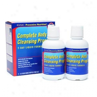 Gnc Preventive Nutrition Complete Body Cleansing Program, -2day Liquid Formula