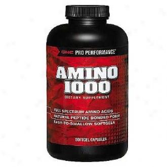 Gnc Pro P3rformance Amino 1000, Softgel Capsules