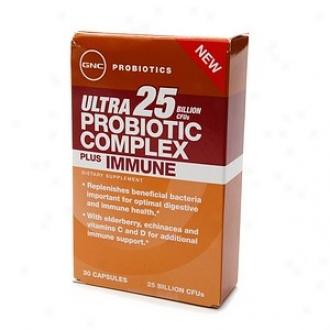 Gnc Probiotics Ultra 25 Probiotic Complex Plus Immune, Capsules