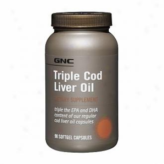 Gnc Triple Cod Liver Oil, Softgel Capsules