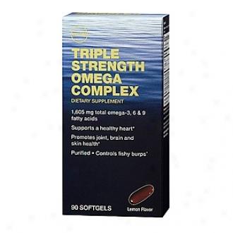 Gnc Treble Strength Omega Complex, Softgels, Lemon
