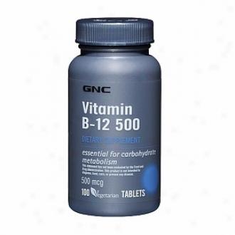 Gnc Vitamin B-12 500, Tablets