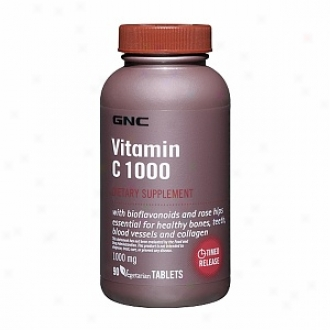 Gnc Vitamin C 1000 With Bioflavpnoids And Rose Hips, Tablets